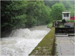 Potok za vrijeme velikih kiša-poplave